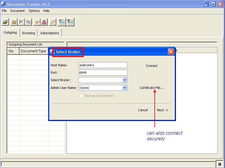 webmethods-document-tracker-select-broker
